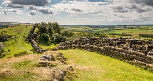 Visit where Hadrian's Wall is which built by the Roman during your next Scotland vacations.