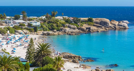 Soak up some sun at beautiful Camps Bay on your South African Vacation