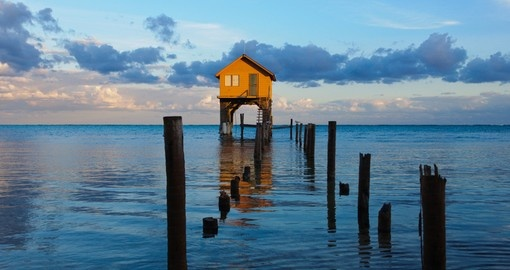 Home on the ocean in Ambergris caye, Belize