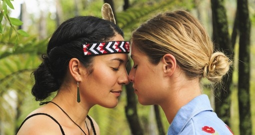 Experience a 'Hongi' – this is a traditional New Zealand greeting