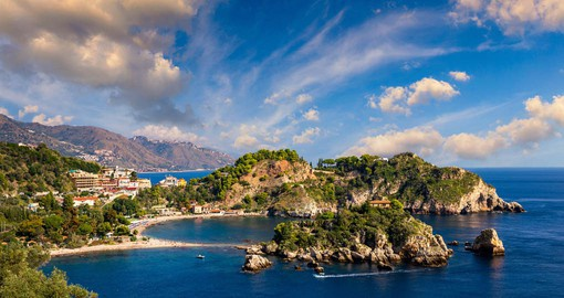 Isola Bella was donated to Taormina by the King of the Two Sicilies in 1806