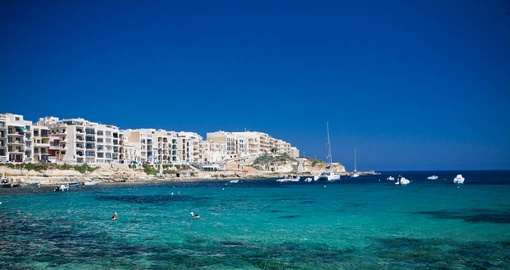 Take in the blue sea of Gozo on your Malta tour