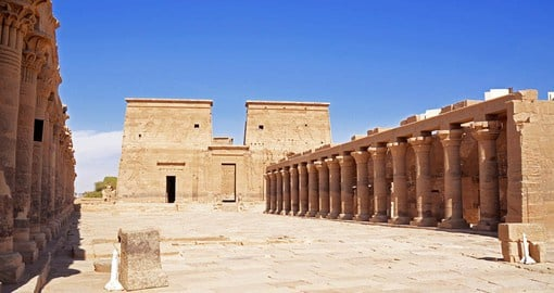 One of the most picturesque in all of Egypt, Philae Temple sits on Aglika Island just south of the old Aswan Dam