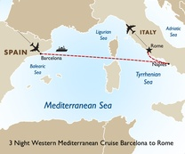 3 Night Western Mediterranean Cruise: Barcelona to Rome
