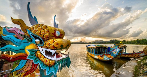 Located on the banks of the Perfume River, Hue is one of the most charming towns in Vietnam