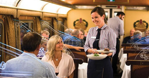 The Queen Adelaide Restaurant is reminiscent of old-world rail travel
