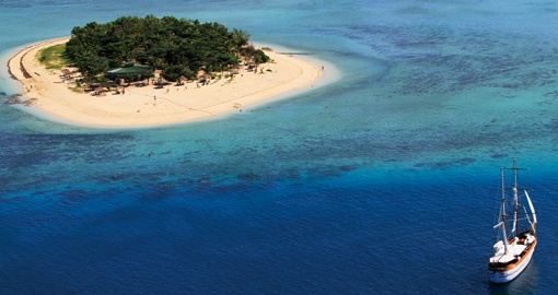 Enjoy a day on the private Tivua Island on your day cruise