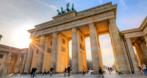 The Brandenburg Gate is one of the highlights on Germany tours
