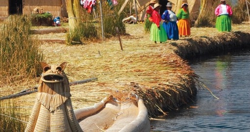 Visit Lake Titicaca's floating reed islands