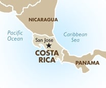 Costa Rica Destination Map