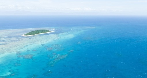 Green Island and the Great Barrier Reef from above