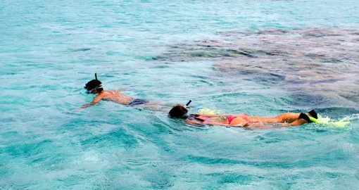 Snorkelling in the Aitutaki Lagoon