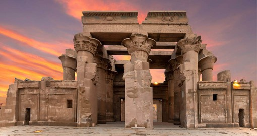 Kom Ombo is a double temple, dedicated to Sobek the crocodile god, and Horus the falcon-headed god