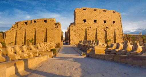 Covers more than 100 hectares, Karnak is dedicated to Amun-Ra, the ancient Egyptian deity of the sun