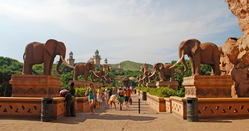 The Bridge of Time in Sun City - always a popular trip inclusion on South African tours.