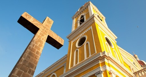 The iconic Stone Cross Granada is a great photo opportunity on all Nicaragua vacations