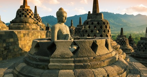 Borobudur at sunset