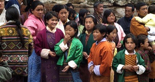 Enjoy a warm welcome from locals on your Bhutan Vacation