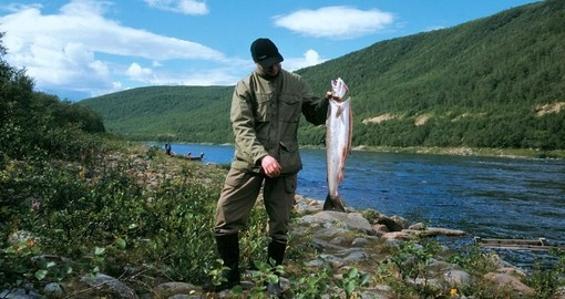Fish in the Finnish Lapland during your Finland tour.