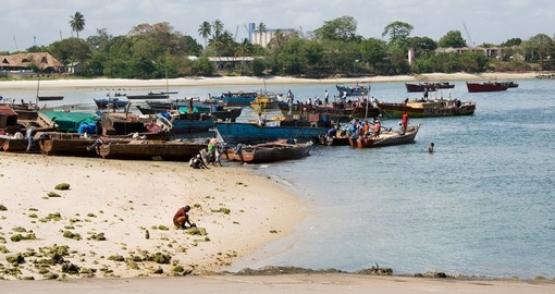 Fishing boats close to Dar es Salaam