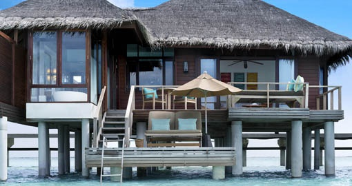 Embrace the rest and relaxation lifestyle at your own private villa overlooking the ocean on your Maldives Vacation