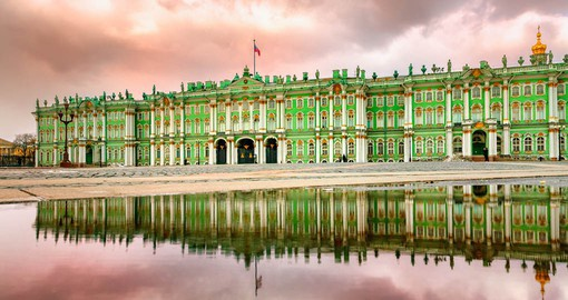 St. Petersburg's most famous building, the Winter Palace is now home to the Hermitage Museum