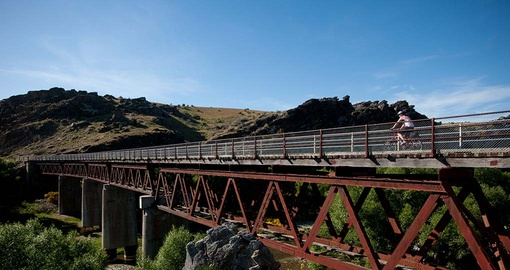Cycle the Otago Rail Trail on your New Zealand Vacation