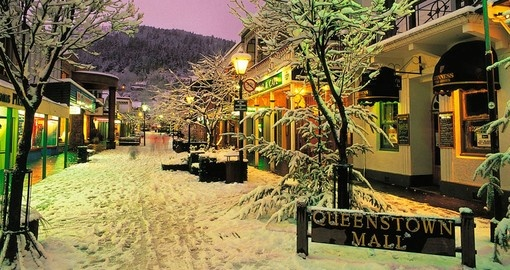 Queenstown mall in the winter
