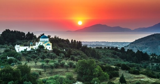 A beautiful sunset in Kos