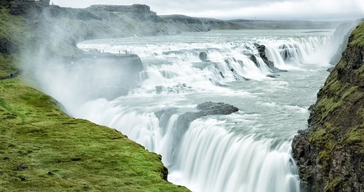 Most trips to Iceland visit Gullfoss Waterfall