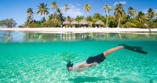Time for snorkelling on your Bora Bora Vacation
