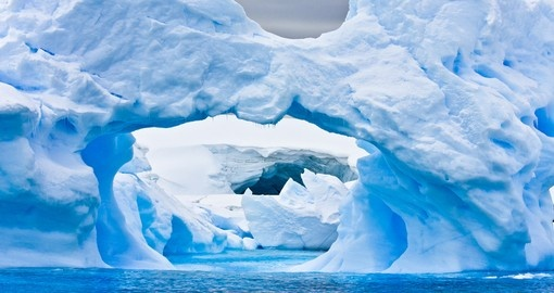 Pass through the iceberg dotted waters of Antarctica and appreciate the natural beauty of the region on you Cruise to Antarctica