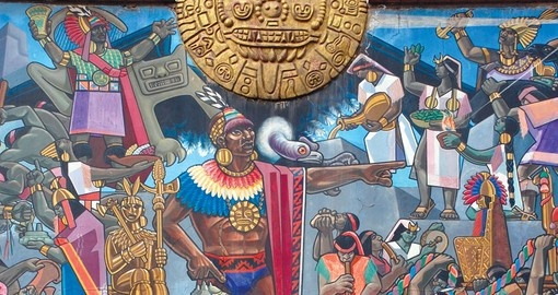 Inca wall painting, Cusco