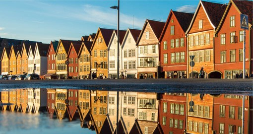 Bergen's Bryggen Street's history goes back to about the year 1070, shortly after the Viking Age