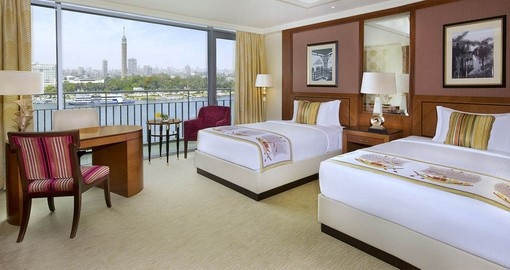 Enjoy views of the Nile from your room on your Eygpt trip