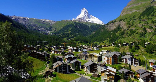 Drive through the scenic mountainside town of Zermatt on your self drive tour during your Trips to Switzerland.