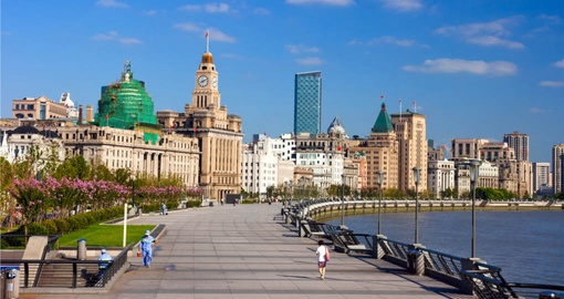 Stroll the Shanghai Bund on your China Vacation