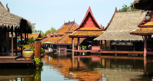 Floating Market in historic Bangkok
