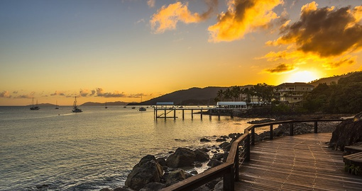 Experience the sunrise in Airlie Beach on your next Australia vacations.