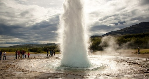 The Famous Strokkur Geyser