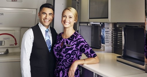 Friendly Air New Zealand Cabin Crew
