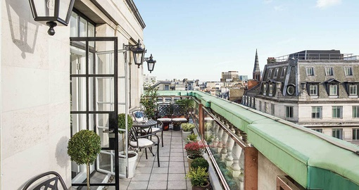 Indulge in the Terrace Suite at the Langham on your London Tour