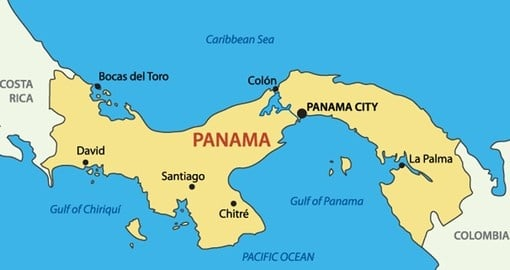 Panama Geography And Maps Goway Travel - World map panama