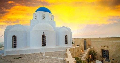 Discover Pyrgos the highest point of Santorini, enjoy breathtaking view during your next trip to Greece.