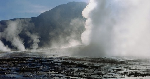 Feel the heat off the Taito Geysers on your Chile Vacation