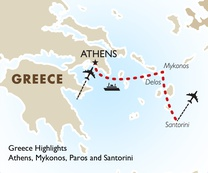 Greece Highlights: Athens, Mykonos, Paros and Santorini