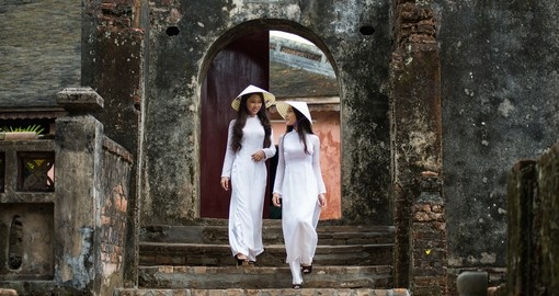 Ao Dai is the famous traditional costume
