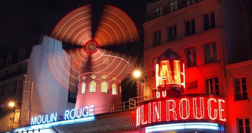 The Moulin Rouge, the worlds most celebrated cabaret was founded in 1889