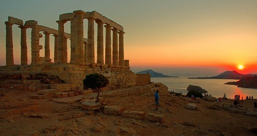 The Doric Temple of Poseidon at Cape Sounion dates from 440 BC