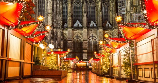 Begin your trip to Germany in Cologne with it's beautiful Cathedral and massive Christmas Markets